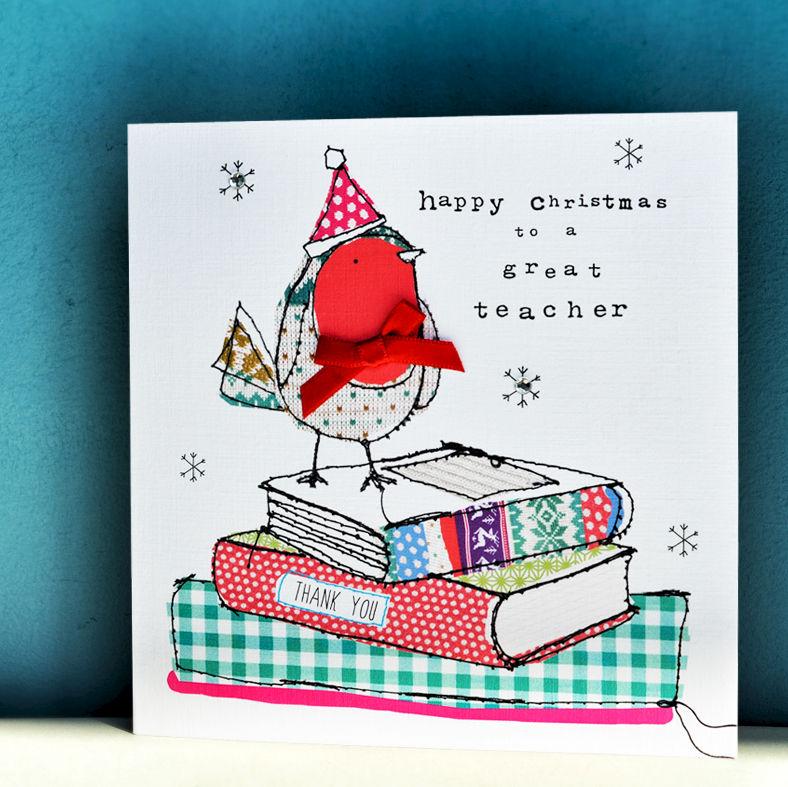 Christmas Cards For Teachers.Happy Christmas Great Teacher Christmas Card