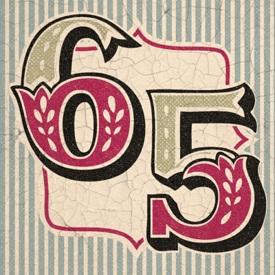 Retro 65th Birthday Card