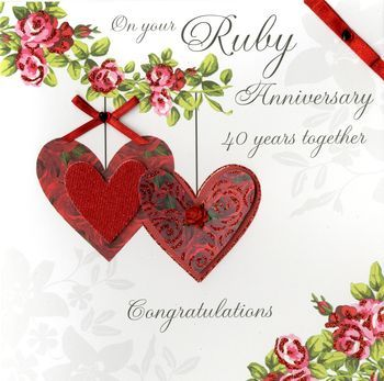 Ruby Wedding Anniversary Card Messages