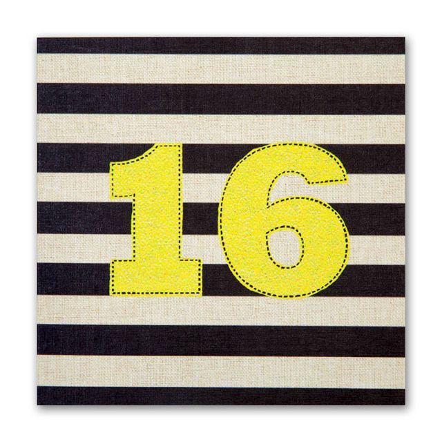 Striped 16th Birthday Card