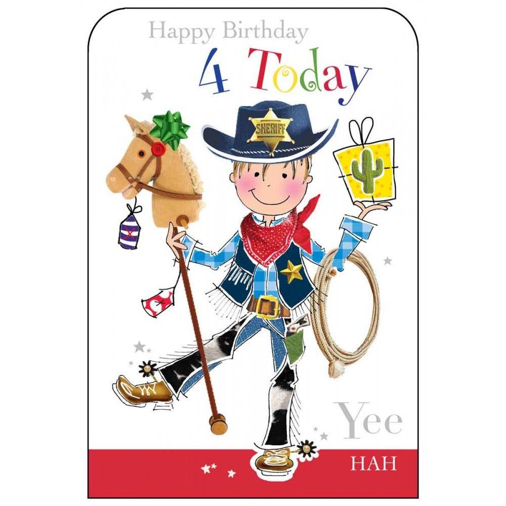 Happy Birthday 4 Today Boys Birthday Card