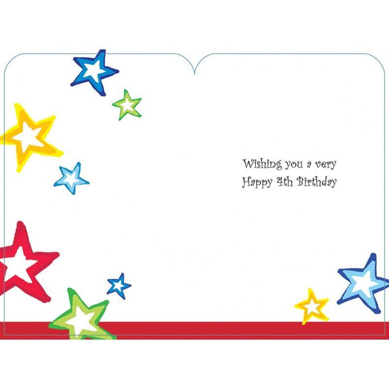 Happy Birthday 4 Today Boys Card