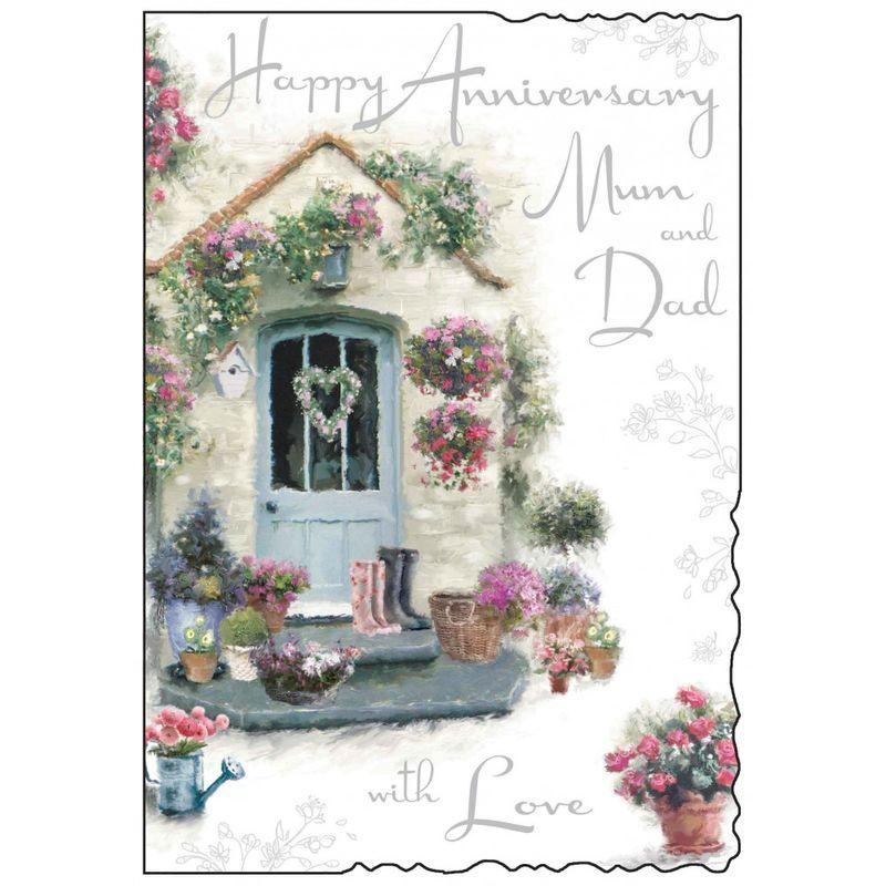 Mum Dad Happy Anniversary Card Karenza Paperie