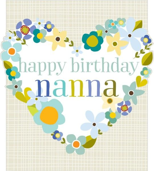 Floral Heart Nanna Birthday Card
