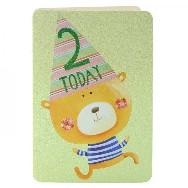 Age 2 Teddy Bear Birthday Card