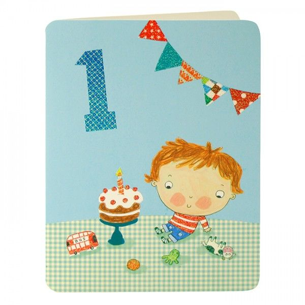 Baby Boys First Birthday Card