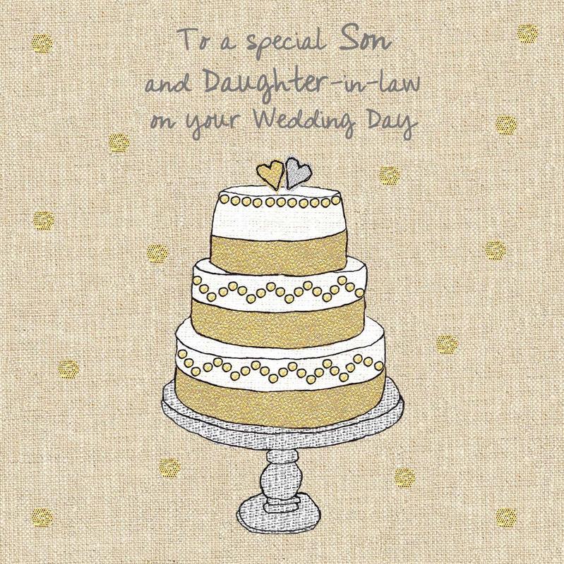 Son Amp Daughter In Law Wedding Cake Wedding Card Karenza