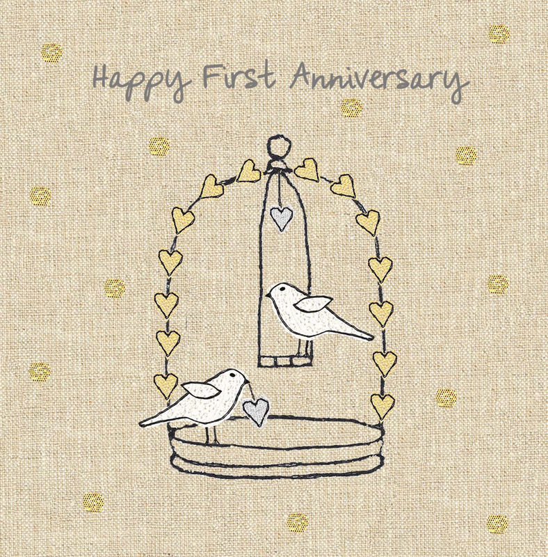 First Wedding Anniversary.Anniversary Birds First Wedding Anniversary Card