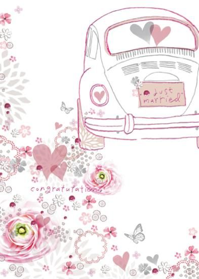 Just Married Wedding Day Card Karenza Paperie