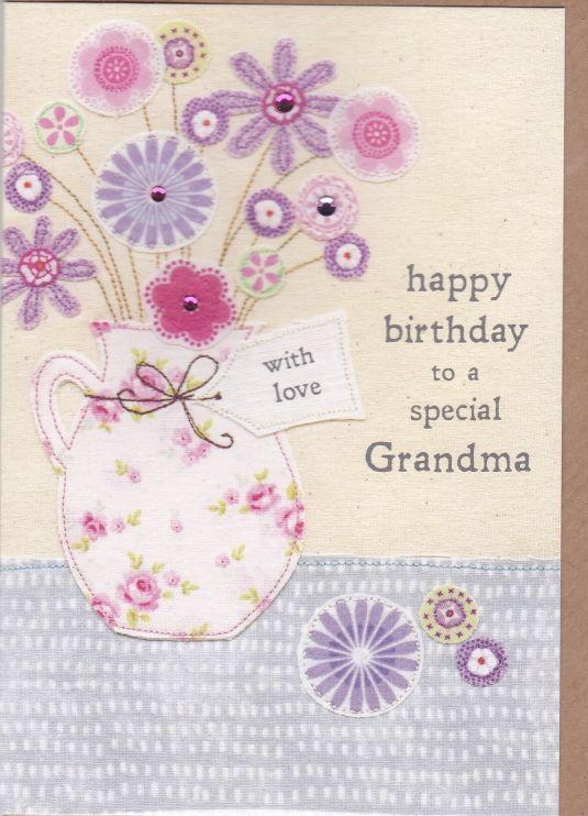 Special Grandma Flowers Birthday Card