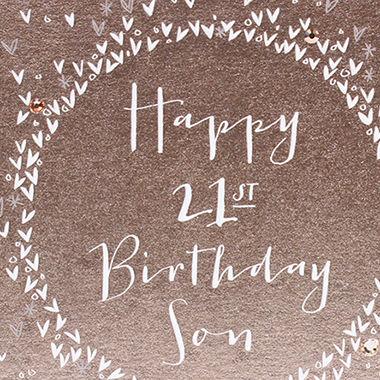 Luxury Son 21st Birthday Card
