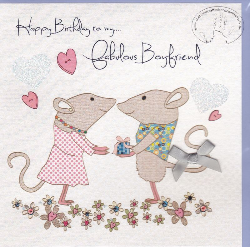 Handmade Boyfriend Birthday Card
