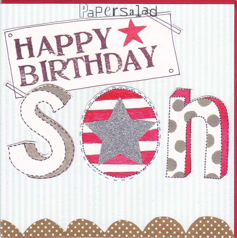 Star Son Birthday Card
