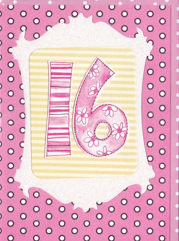 Dotty 16th Birthday Card