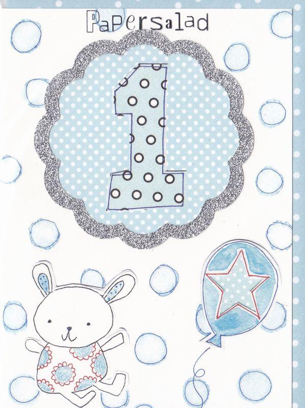Little Boys 1st Birthday Card