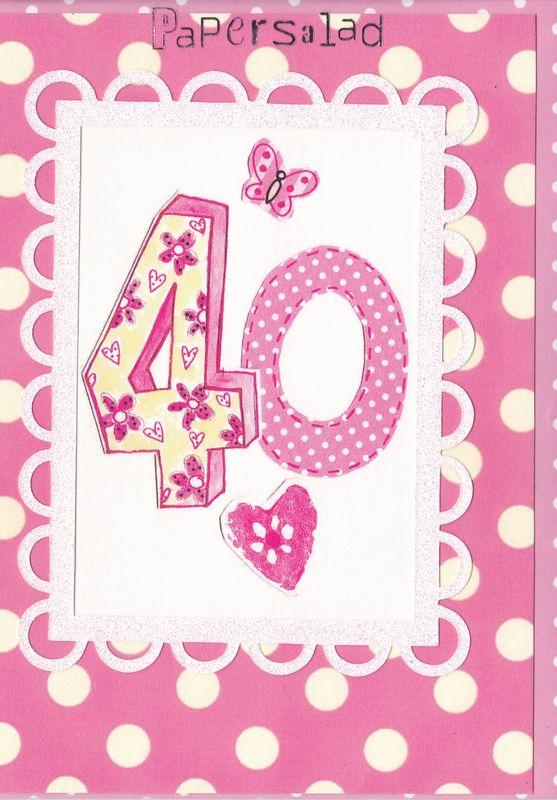 Dotty 40th Birthday Card