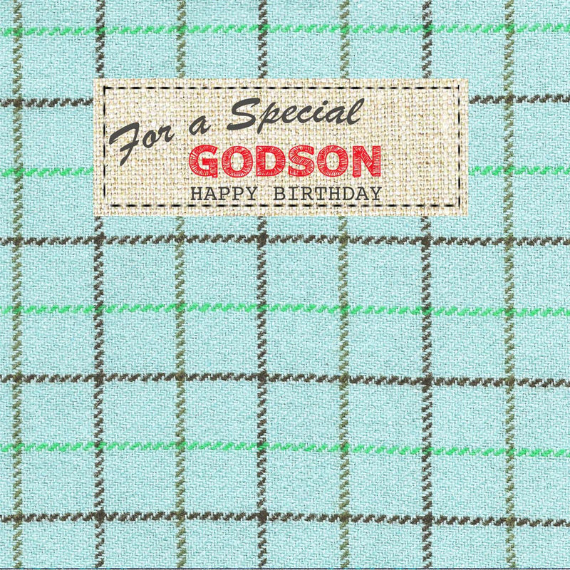 Hand Finished Special Godson Birthday Card