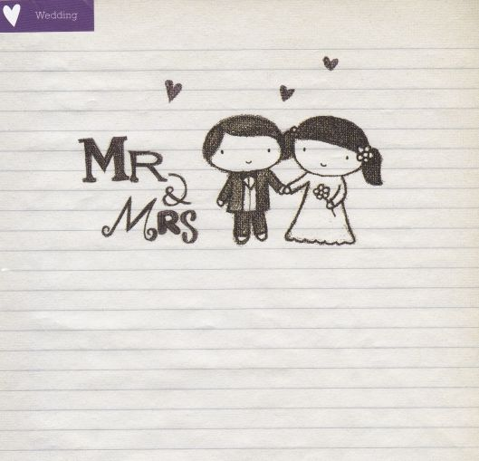 mr and mrs wedding card karenza paperie