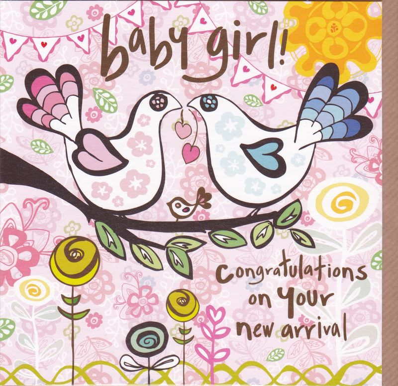 congratulations on your new arrival baby girl card karenza paperie