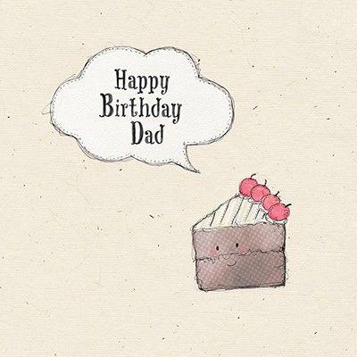 Dad Chocolate Cake Birthday Card