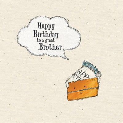 Brother Birthday Cake Card