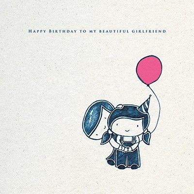 Beautiful Girlfriend Birthday Card