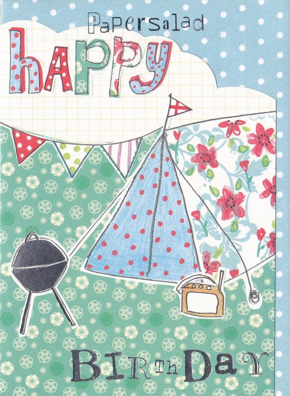 Camping Christmas Cards.Tent Bbq Camping Birthday Card
