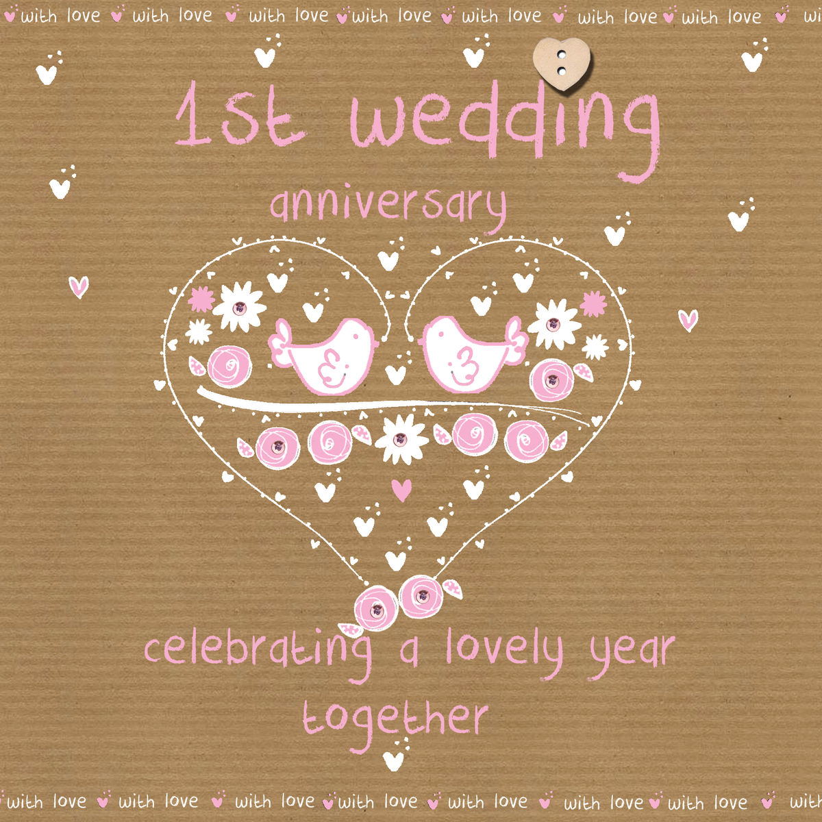 1st Wedding Anniversary Decoration Ideas At Home: First Wedding Anniversary Card
