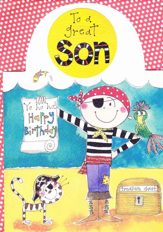 Pirate Son Birthday Card