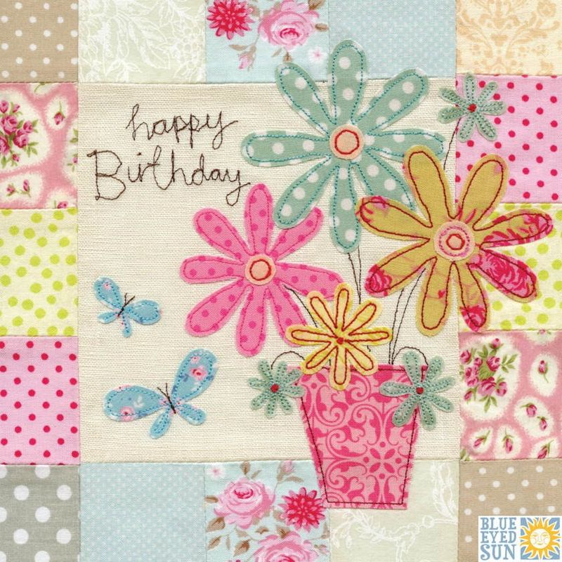 Flowers Butterflies Birthday Card