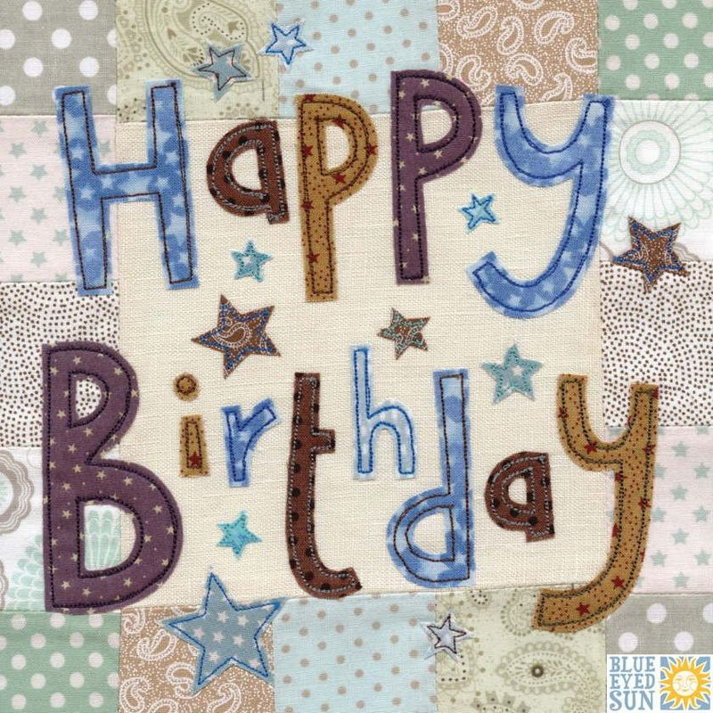 Stars Happy Birthday Card