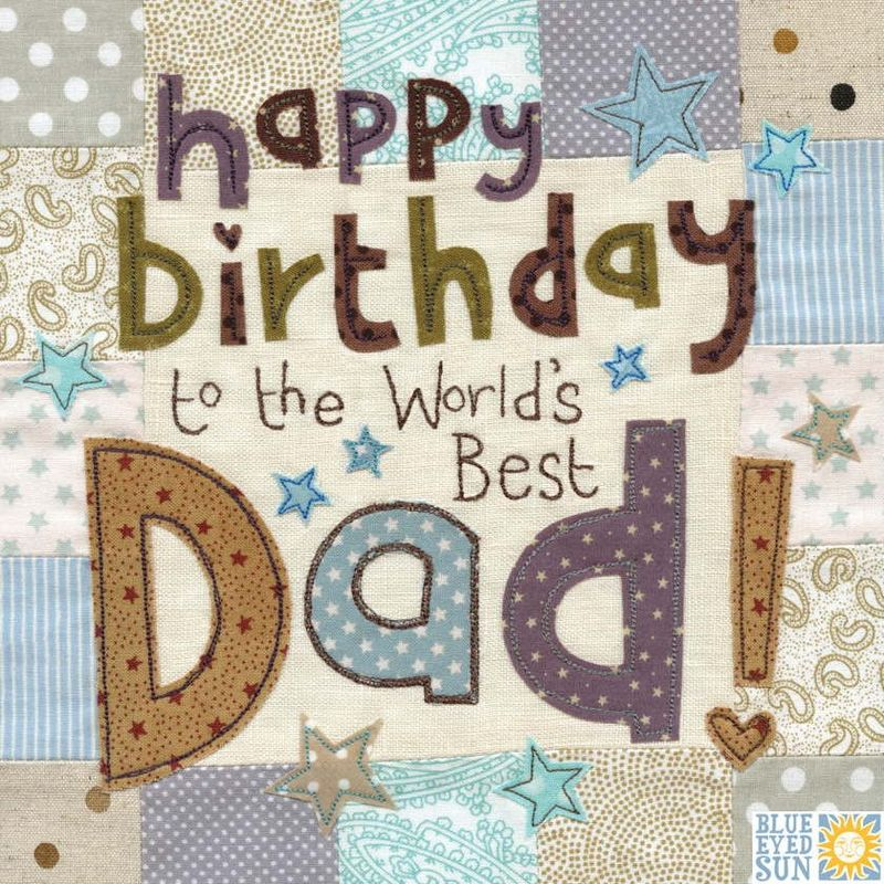 World S Best Dad Birthday Card Large Luxury Birthday Card