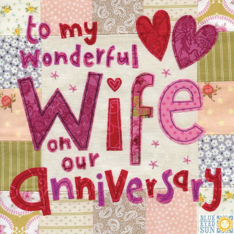 Ideas For Wedding Anniversary Gifts For Wife: Wonderful Wife On Our Anniversary Card