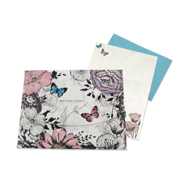 butterflies flowers enchanted woodland writing set karenza paperie butterflies amp flowers enchanted woodland writing set product images of