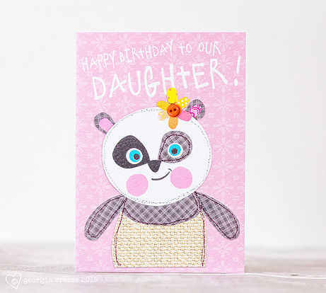 Panda To Our Daughter Birthday Card