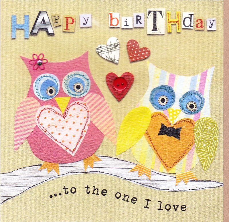 To The One I Love Owls Birthday Card