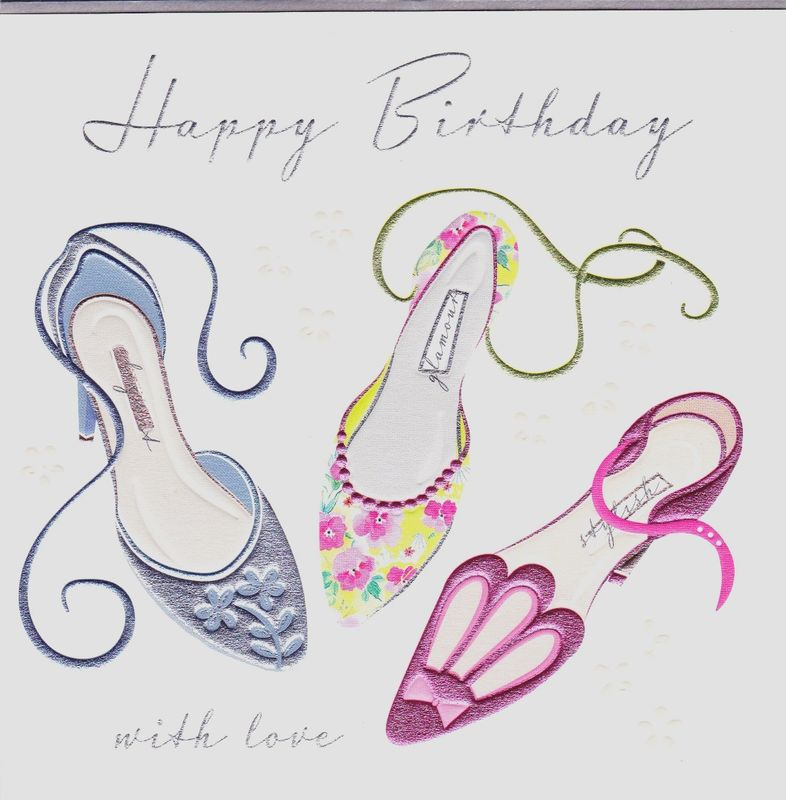 8237451c5fd3 Shoes With Love Birthday Card - Karenza Paperie