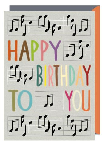 Buy Musical Notes Happy Birthday To You Card Online For Him Her Music Cards