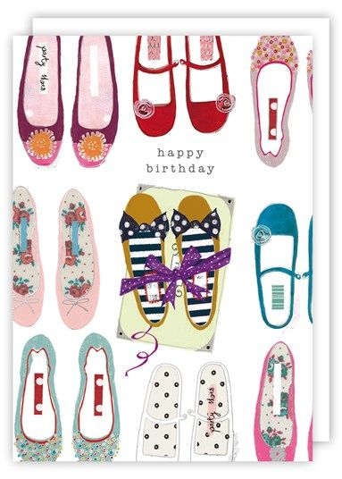 398f5336097b Shoes Happy Birthday Card - Karenza Paperie