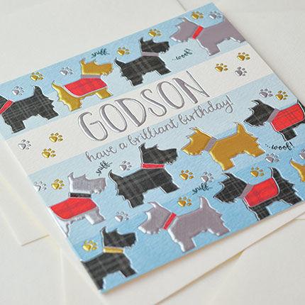 Godson Dogs Birthday Card