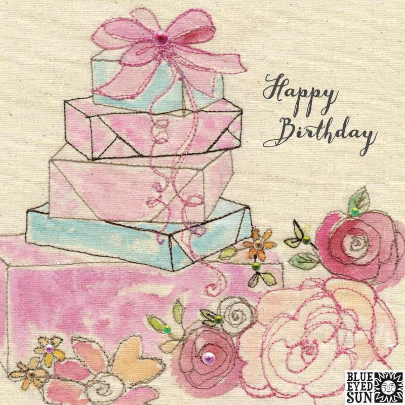 Birthday Presents Flowers Card