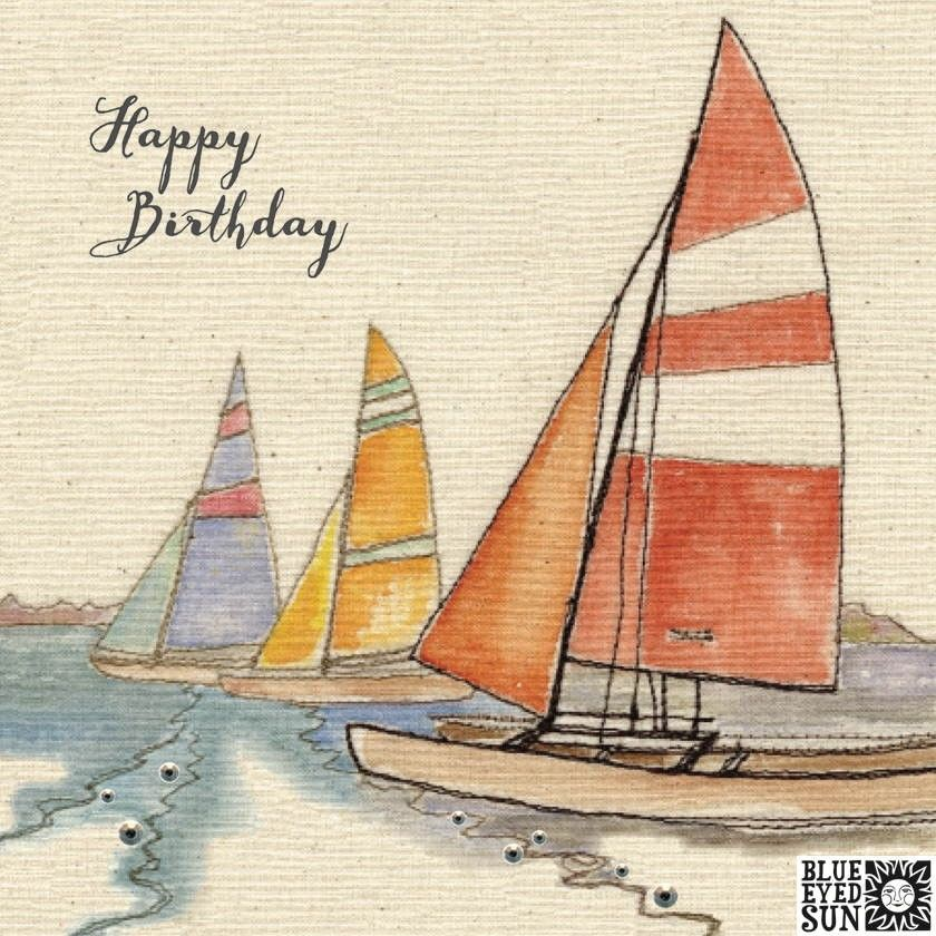 Boats Birthday Card