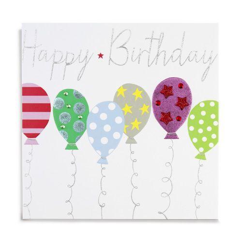 Handmade Balloons Happy Birthday Card