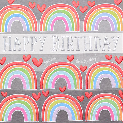 HandFinishedRainbowHappyBirthdayCardbuy Birthday Cards For