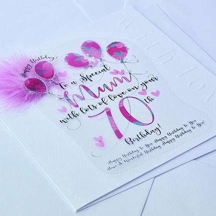 Handmade Mum 70th Birthday Card