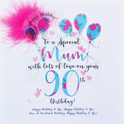 Handmade Mum 90th Birthday Card