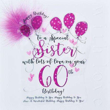 Handmade Sister 60th Birthday Card