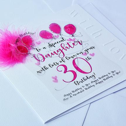Handmade Daughter 30th Birthday Card
