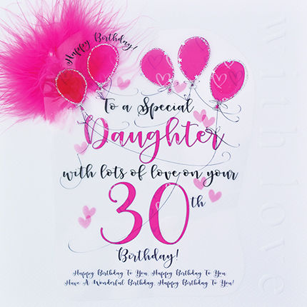 Handmade Daughter 30th Birthday Card