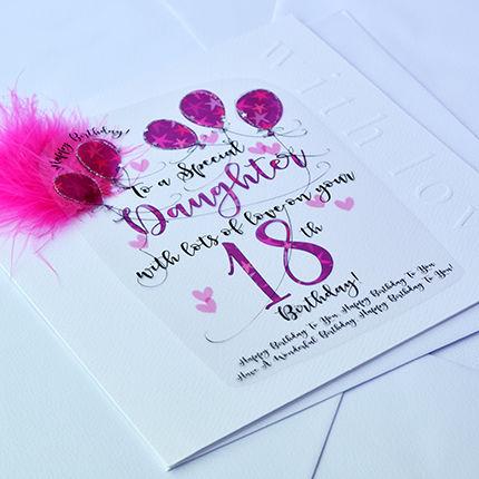 Handmade Daughter 18th Birthday Card